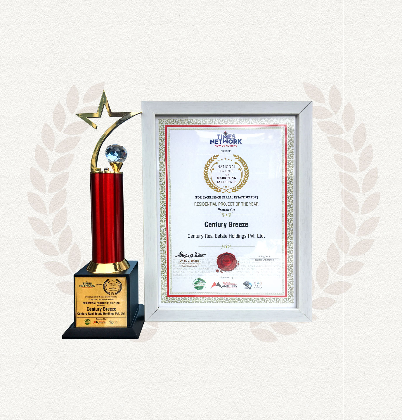 CENTURY BREEZE WINS BEST RESIDENTIAL PROJECT OF THE YEAR - 2018