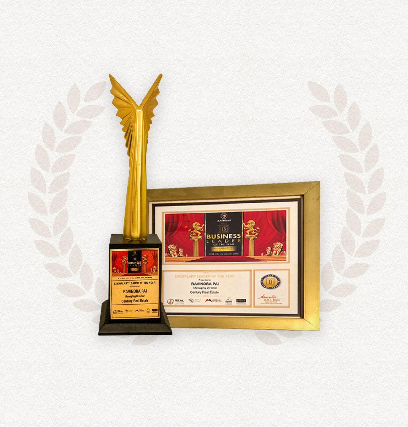 P. RAVINDRA PAI, MANAGING DIRECTOR, WINS EXEMPLARY LEADER OF THE YEAR - 2021