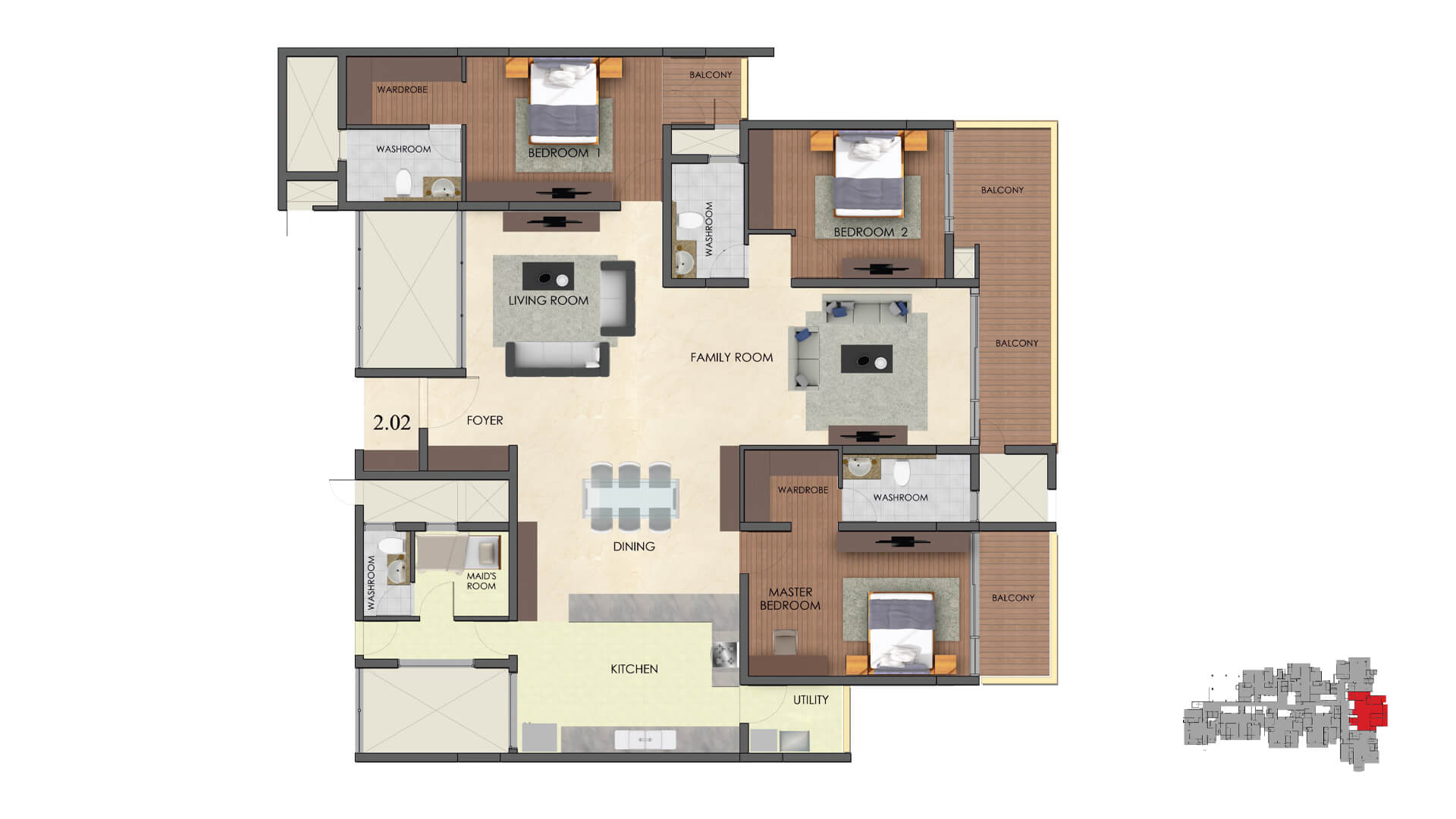 3 BED