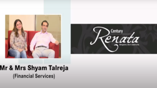 'Trust factor we have already built in with Century ...' Mr. & Mrs Shyam Talreja